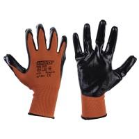 Рабочие трикотажные перчатки Mover с нитриловым покрытием 12 пар/уп, черно-красный (NLX-N011)