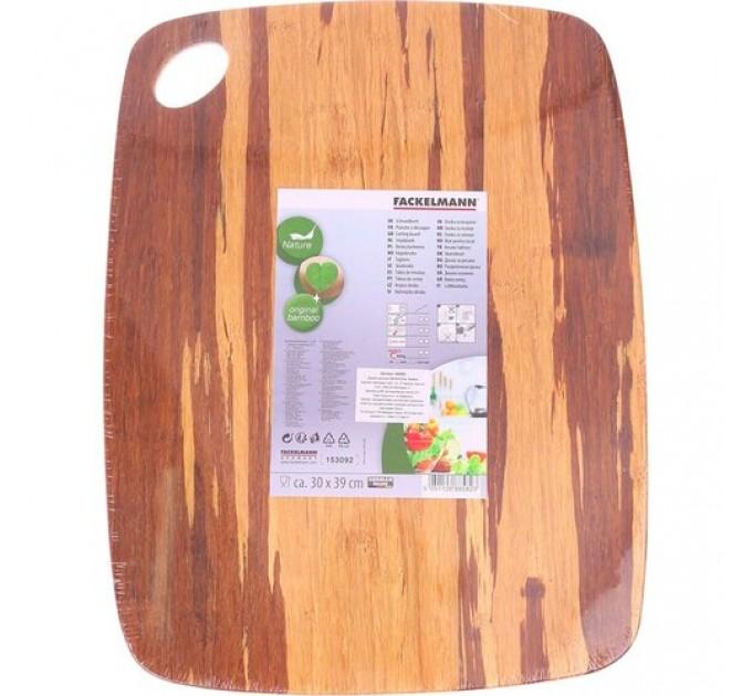 Доска разделочная Fackelmann 39*30*0.9 см, бамбук (688582) - фото № 1