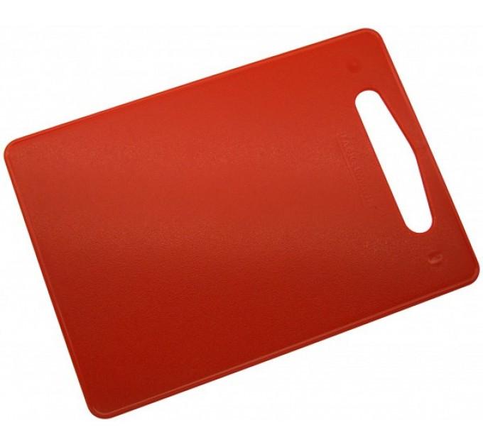 Доска разделочная Fackelmann 34х24 см, пластик, красный (39016) - фото № 1