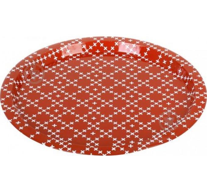 Поднос Fackelmann круглый D33 см, сталь (683625) - фото № 1