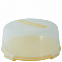 Тортовница Алеана круглая, желтый/прозрачный (169056)