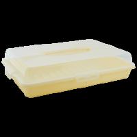 Тортовница Алеана прямоугольная, желтый (169057)