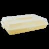 Тортовница Алеана прямоугольная, желтый/прозрачная (169057)