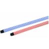 Ручка для метлы, швабры Metalstick прорезиненная, 120см * 0,23мм, черно-белая (120REZ-BW-RO)