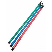 Ручка для метлы, швабры Dream Land I деревянная 120 см покрытая ПВХ, красный (HK120-red)