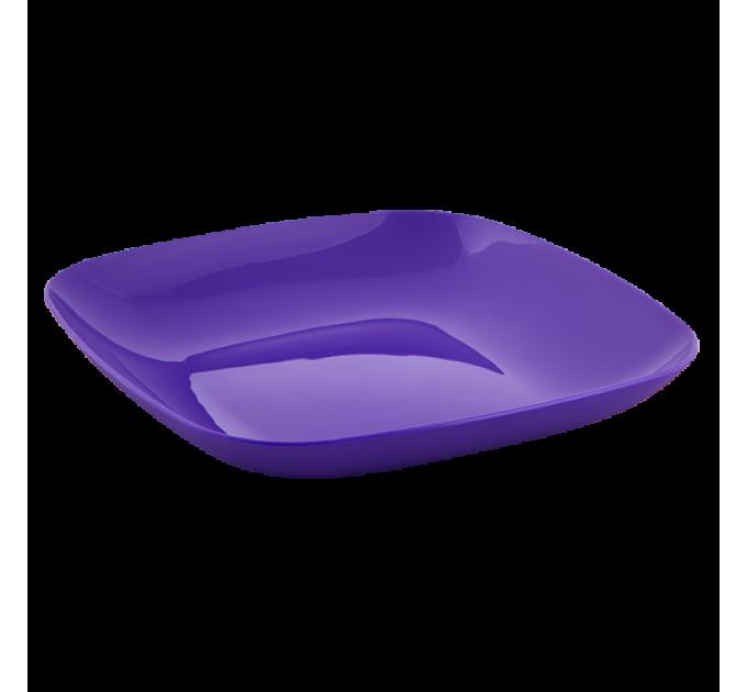 Тарелка Алеана 19*19*2.8см, темно-фиолетовый (167062) - фото № 1