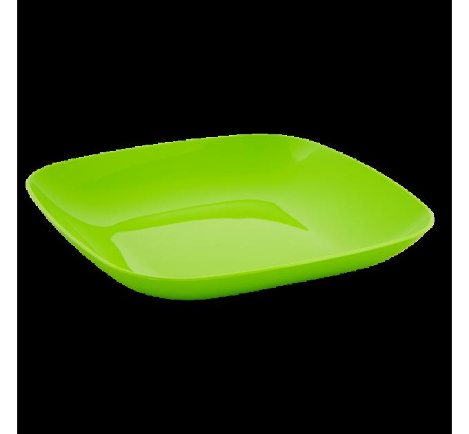 Тарелка Алеана 19*19*2.8см, оливковый (167062) - фото № 1