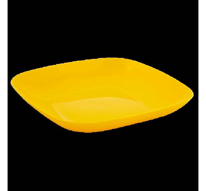 Тарелка Алеана 19*19*2.8см, темно-желтый (167062) - фото № 1