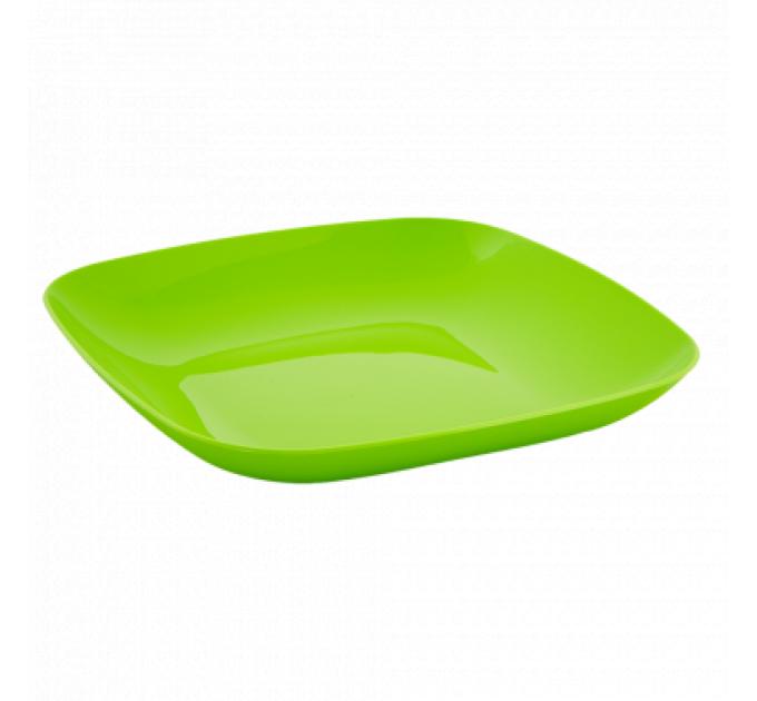 Тарелка Алеана 25*25*3см, оливковый (167063) - фото № 1