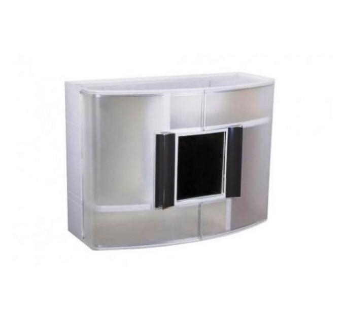 Шкаф в ванную комнату Prima Nova c зеркалом, прозрачный (9316)