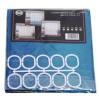 Штора для ванной комнаты с кольцами Chaoya зонтиковая ткань, 180х180см, микс
