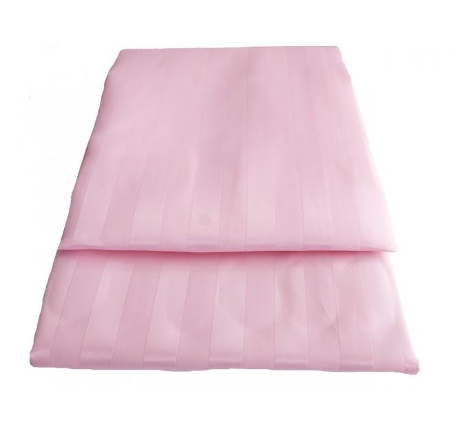 "Штора для ванной комнаты текстильная Chaoya ""Полоска"", 180х180 см, розовая - фото № 2"