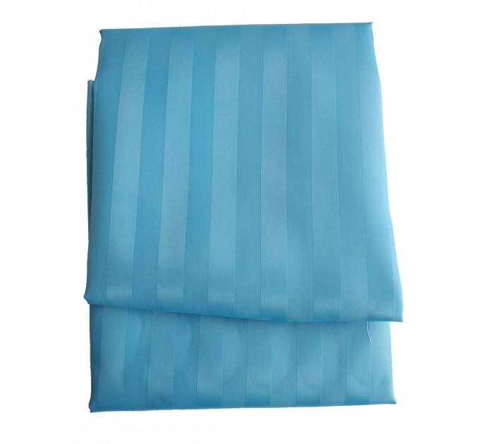 "Штора для ванной комнаты текстильная Chaoya ""Полоска"", 180х180 см, ультра голубая - фото № 2"