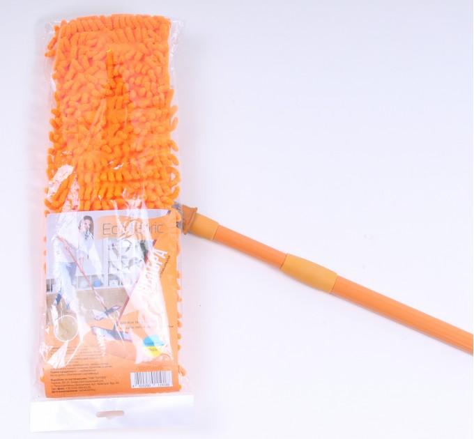 Швабра Eco Fabric из микрофибры 44 см лапша, ручка телескоп. 120 см (EF-Salsa)