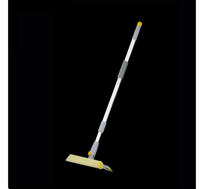 Швабра для мытья окон Eco Fabric поворотная губка 25см, алюминиевая телескоп. ручка 82-133см (EF-2535)