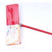 Швабра Eco Fabric из микрофибры 42 см, ручка 110 см, красная (EF-MonoR)