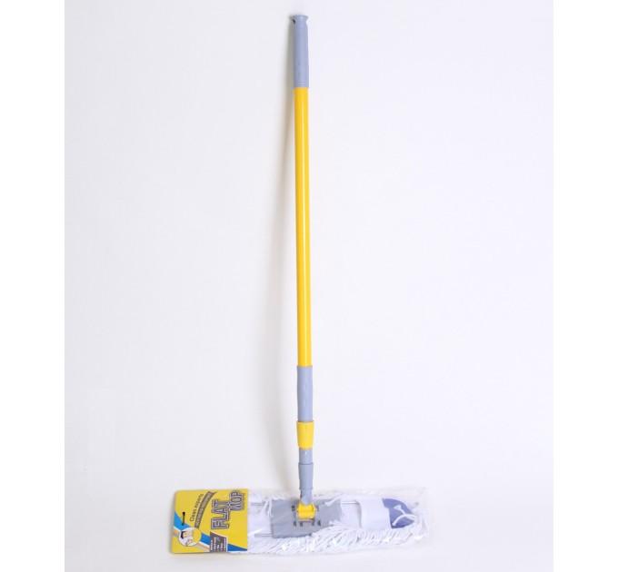 Швабра Eco Fabric насадка из хлопка 60 см, ручка телескоп. 92-132 см (EF-6025-D)