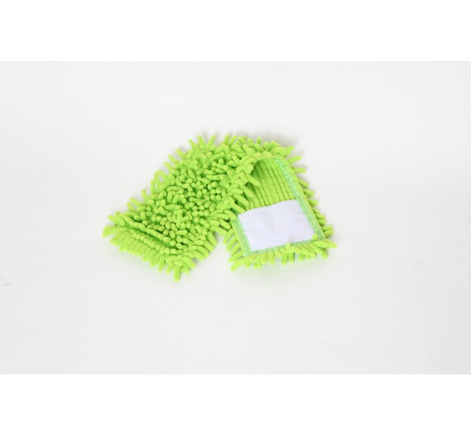 Насадка для швабры Eco Fabric из микрофибры лапша, зеленый (EF-1000-G) - фото № 1