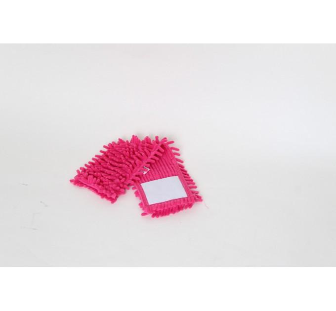 Насадка для швабры Eco Fabric из микрофибры лапша, розовая (EF-1000-P) - фото № 1