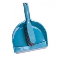 Набор совок и щетка Eco Fabric SOFT TOUCH, сине-серый (EF-2421B)