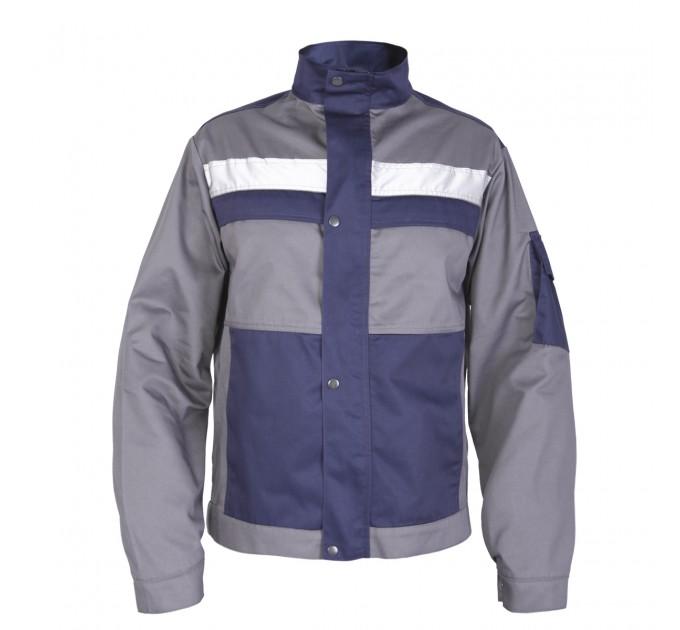 """Куртка рабочая Mover """"Boss"""" со светоотражающими полосами, серый (MV-121G) - фото № 1"""