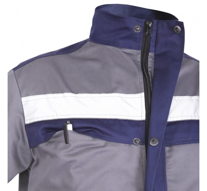 """Куртка рабочая Mover """"Boss"""" со светоотражающими полосами, серый (MV-121G) - фото № 7"""