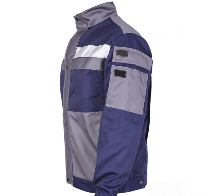 "Куртка рабочая Mover ""Boss"" со светоотражающими полосами, синий (MV-145B) - фото № 4"