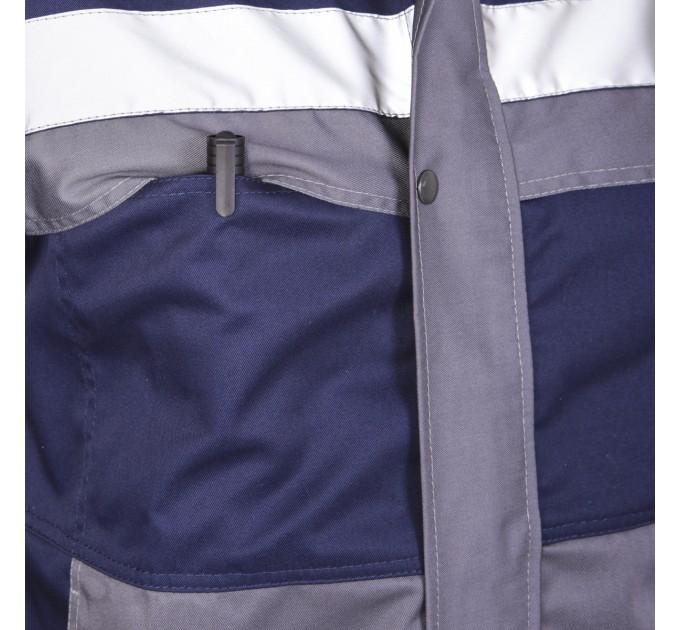 "Куртка рабочая Mover ""Boss"" со светоотражающими полосами, синий (MV-145B) - фото № 6"