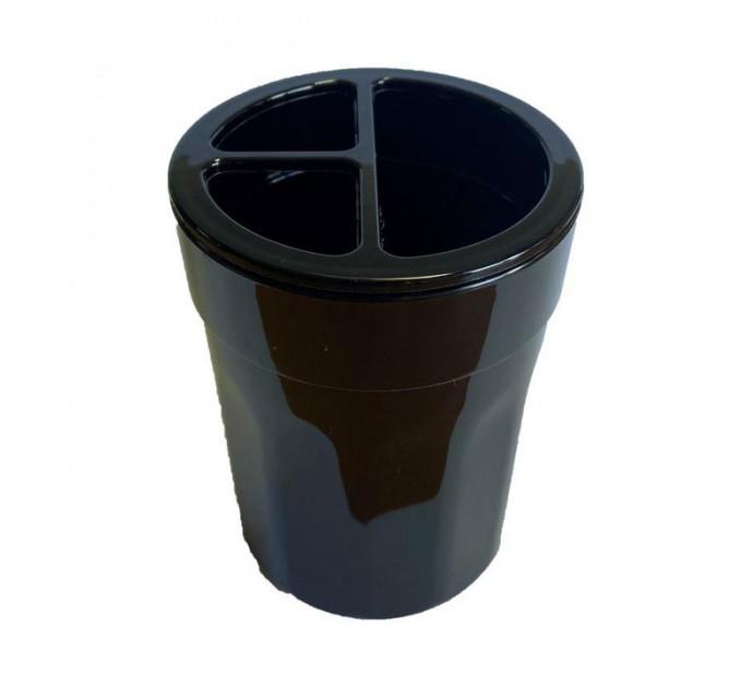 Стакан для зубных щеток Eco Fabric MOON, черный (TRL-8017-SB) - фото № 1