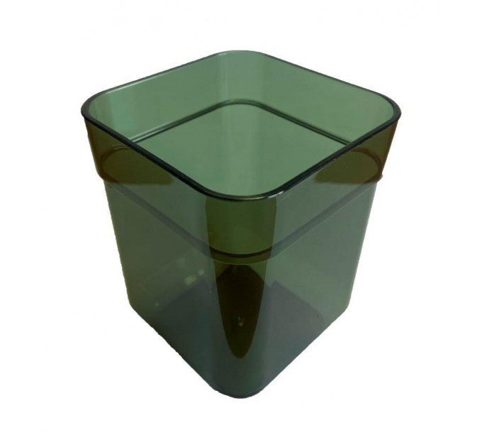 Стакан для ванной Eco Fabric CUBE, прозрачно-зеленый (TRL-8020-TG) - фото № 1