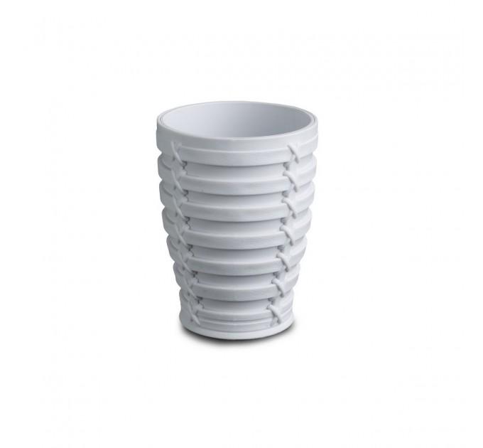 Стакан для зубных щеток Prima Nova PALM, белый (E59-01)