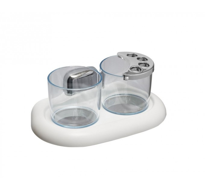 Стакан для ванной двойной Prima Nova, белый (024013)