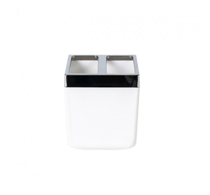 Стакан для зубных щеток Prima Nova TOSCANA, белый (SA03-01) - фото № 1
