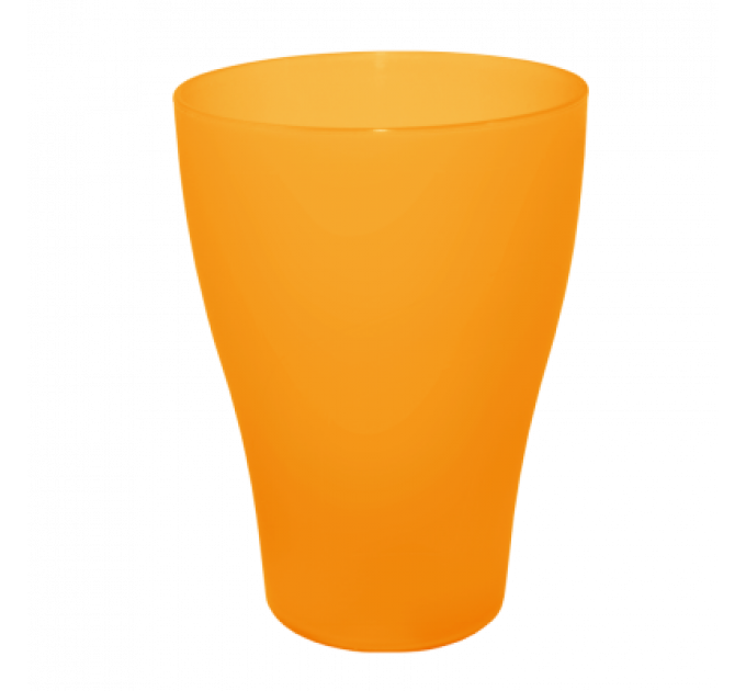 Стакан Алеана 0.25 л, оранжевый прозрачный (167096) - фото № 1