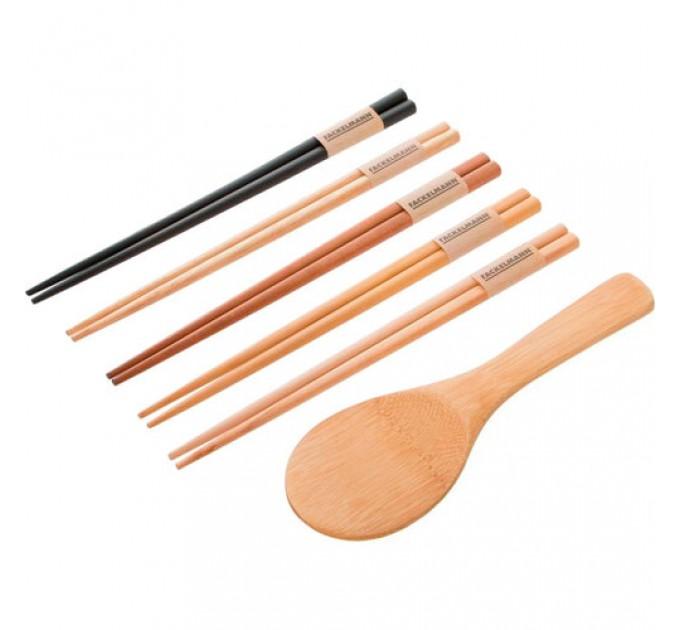 Набор для суши Fackelmann 4 пары палочек, ложка для риса (688854) - фото № 1