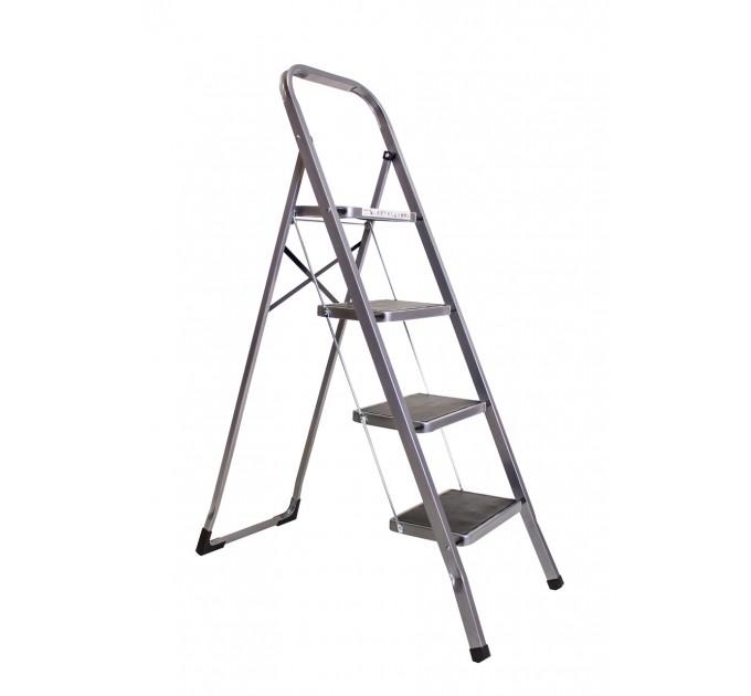 Лестница-стремянка Aloft металлическая 4 ступ. с резиновым покрытием (SLS-04)
