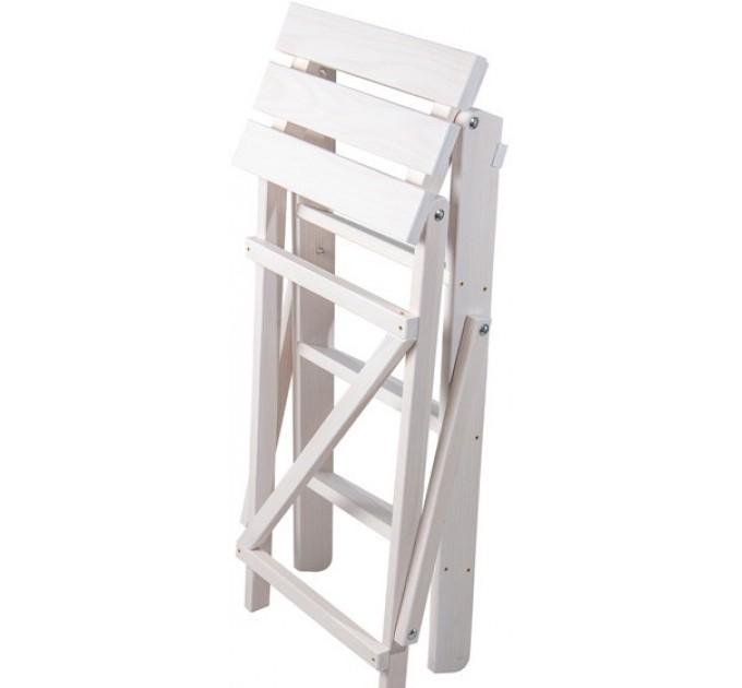 Стремянка бытовая деревянная LOFT 4 ступени, белый (CLASSIC-103) - фото № 4
