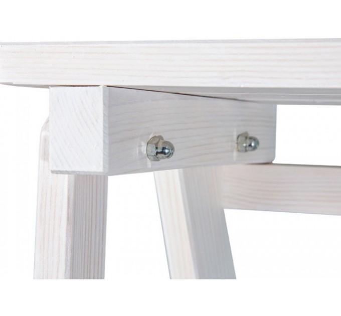Стремянка бытовая деревянная LOFT 4 ступени, белый (CLASSIC-103) - фото № 6