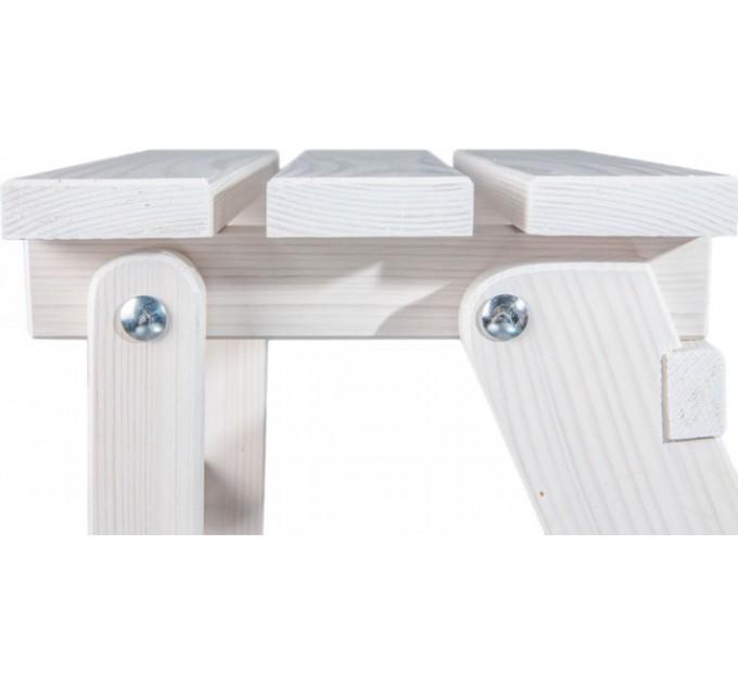Стремянка бытовая деревянная LOFT 4 ступени, белый (CLASSIC-103) - фото № 5