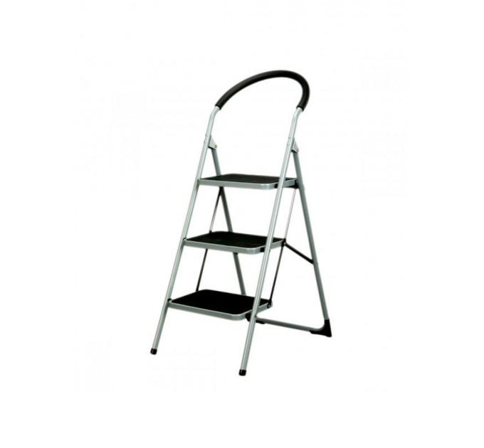 Лестница-стремянка Kaufland металлическая 3 ступ. с резиновым покрытием и мягкой ручкой (WK2201-3)