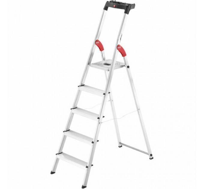 Лестница-стремянка Hailo L60 StandardLine алюминиевая, 5 ступ. (8160507) - фото № 1