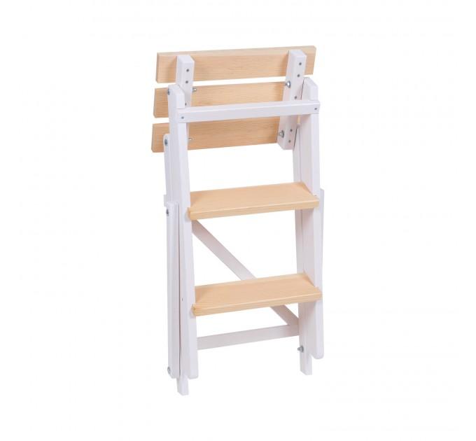 Стремянка бытовая деревянная LOFT 3 ступени, белый (LOFT-301) - фото № 2