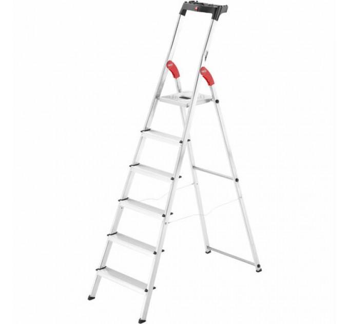 Лестница-стремянка Hailo L60 StandardLine алюминиевая, 6 ступ. (8160607) - фото № 1