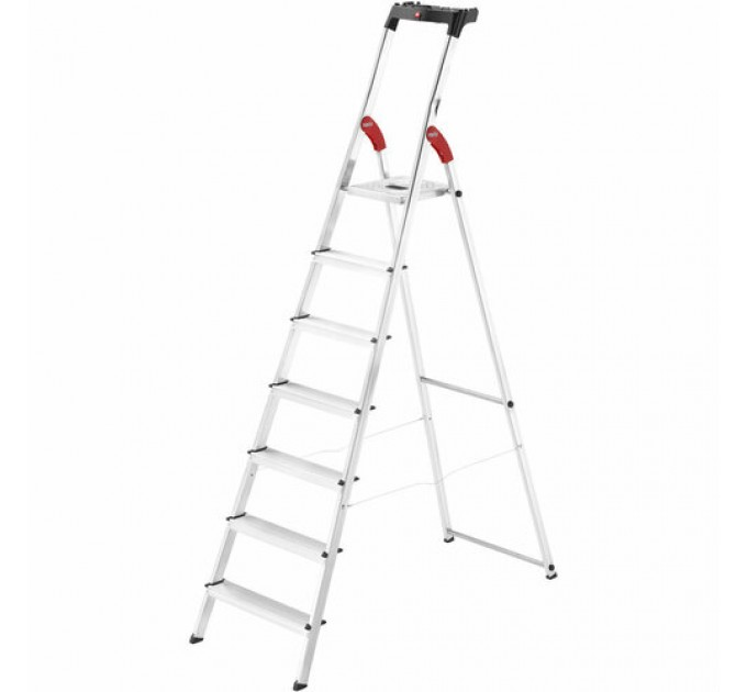 Лестница-стремянка Hailo L60 StandardLine алюминиевая, 7 ступ. (8160707)