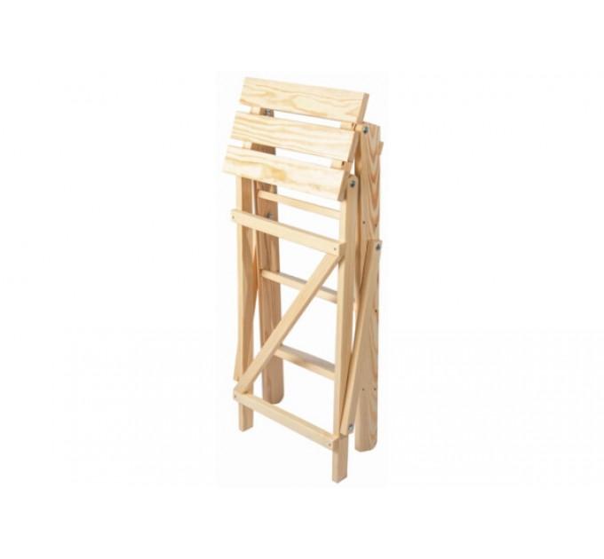 Стремянка бытовая деревянная LOFT 4 ступени, натуральный деревянный (WSL00101) - фото № 4