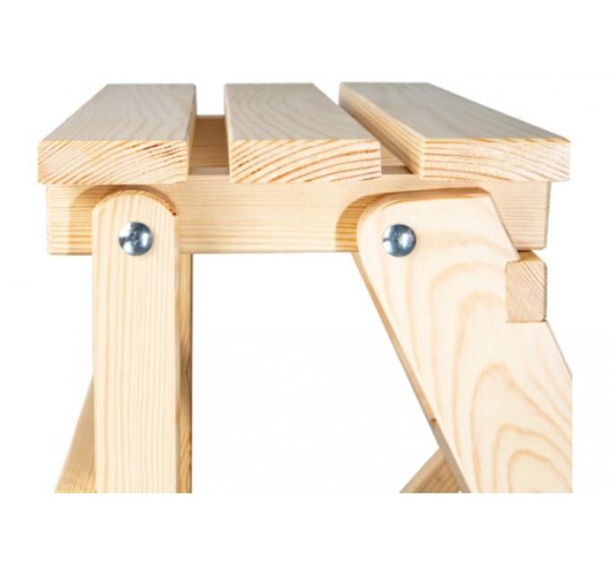 Стремянка бытовая деревянная LOFT 4 ступени, натуральный деревянный (WSL00101) - фото № 6