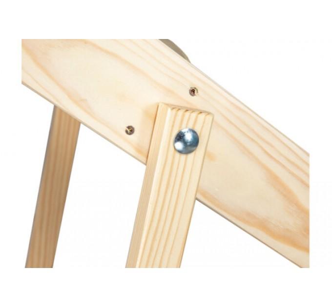 Стремянка бытовая деревянная LOFT 4 ступени, натуральный деревянный (WSL00101) - фото № 5