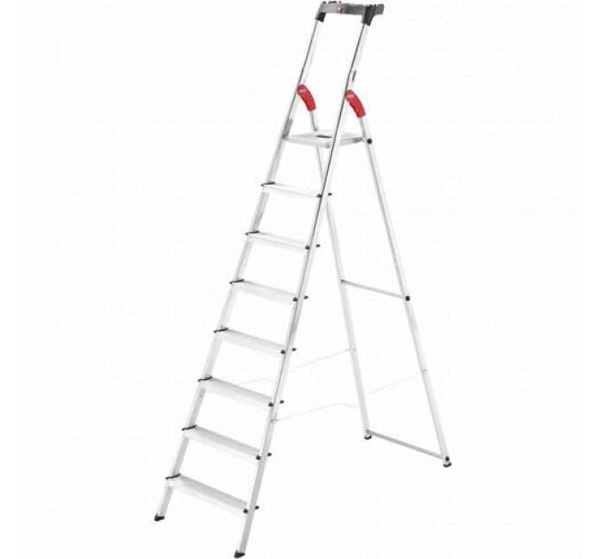 Лестница-стремянка Hailo L60 StandardLine алюминиевая, 8 ступ. (8160807) - фото № 1