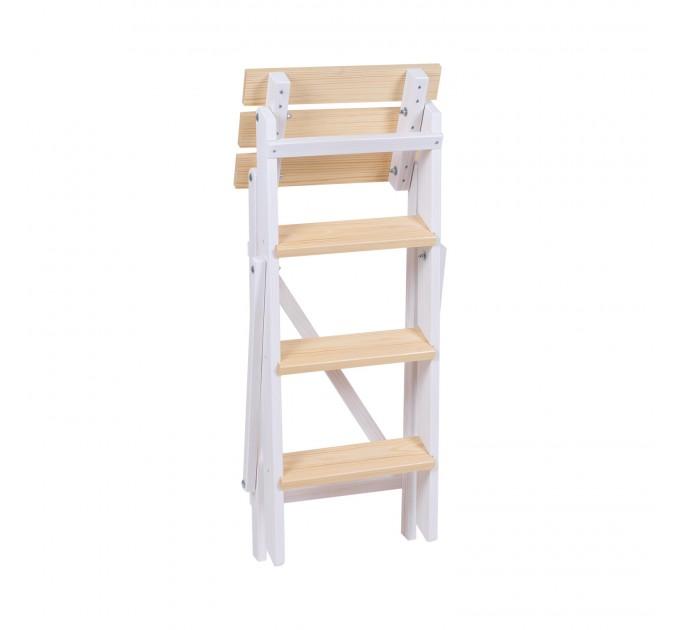 Стремянка бытовая деревянная LOFT 4 ступени, белый (LOFT-401) - фото № 3
