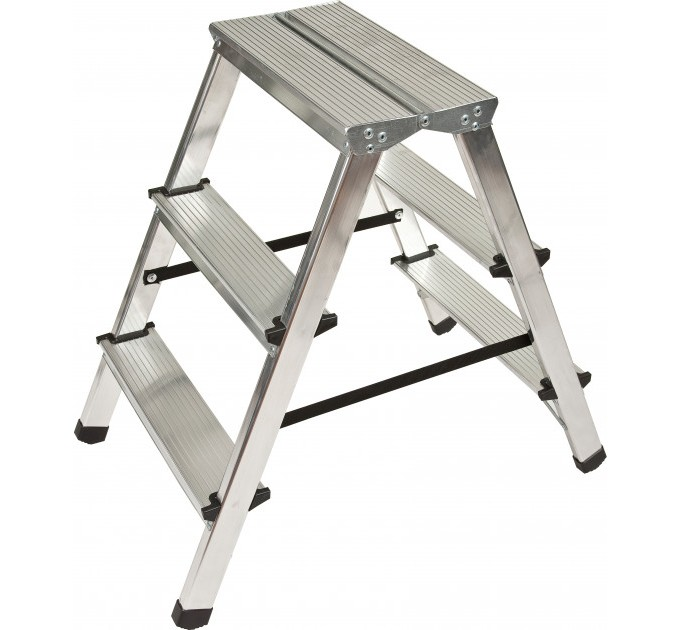 Лестница-стремянка Aloft алюминиевая двухсторонняя, 2*3 ступ., (ALDD3)